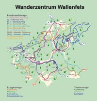 Wanderzentrum Wallenfels Wegeübersicht