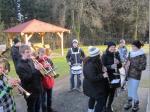 Der Musikverein Wallenfels grüßte mit seinem Neujahrsständela