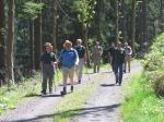 Wanderer zwischen Löhmarmühle und Fels
