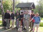 Wandergruppe am Start bei Rauhenberg