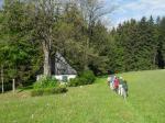 Altes Frankenwaldhaus am Einstieg zum Flößerweg