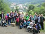 Ein Gruppenfoto mit Blick über Wallenfels durfte nicht fehlen