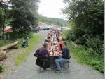 """Die längste """"Outdoor-Currywurst-Tafel"""" des Frankenwalds, dank Uwe Eger möglich"""