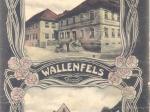 Rathaus von Wallenfels um 1900