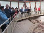 Die Größe der römischen Therme beeindruckte