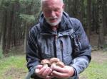 Pilzkenner Rudolf Senftleben fand Pilze am Wegesrand