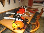 Der Stihl-Dienst Müller stellte seine modernen Sägen und Werkzeuge zur Verfügung