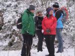 Wanderer in der verschneiten Landschaft